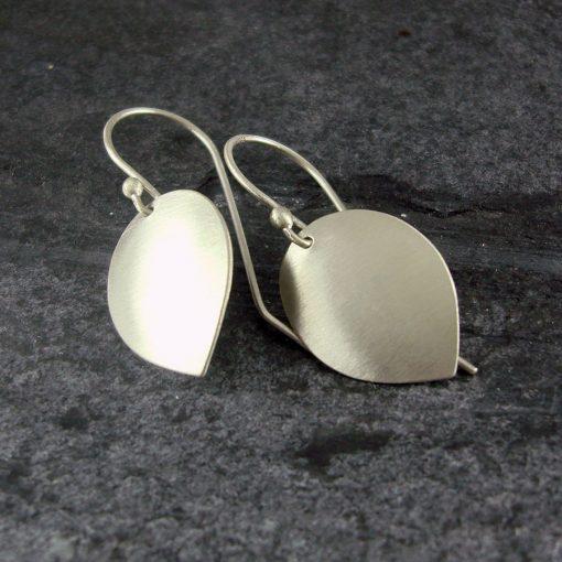 Petal Drop Silver Earrings