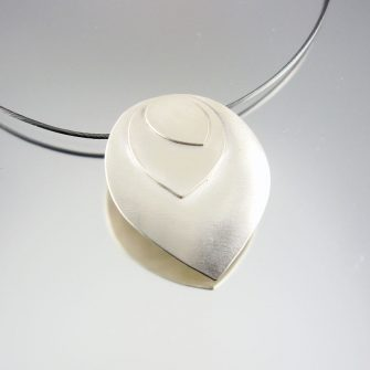 Petal Layered Silver Pendant