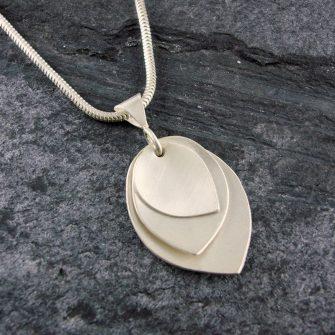 Triple Petal Silver Pendant