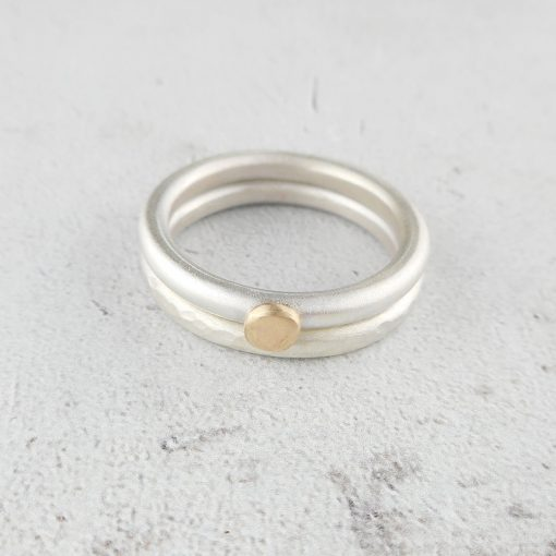 simplicity rings, plain or hammered stacking rings