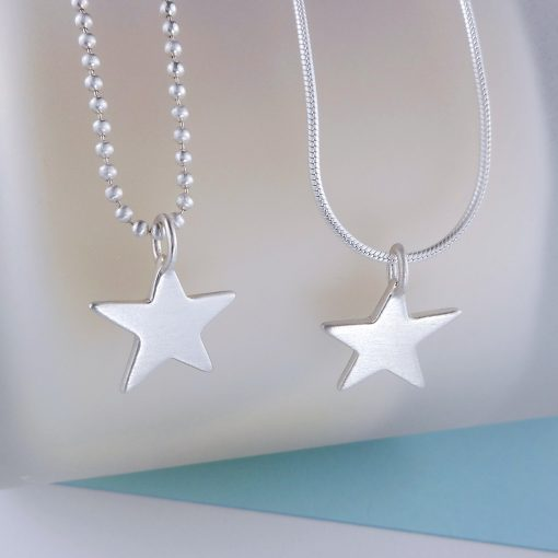 brushed star pendant