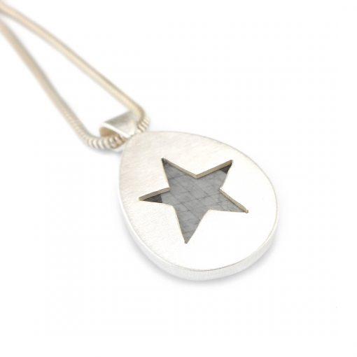 Silver Grey Sapphire Pendant