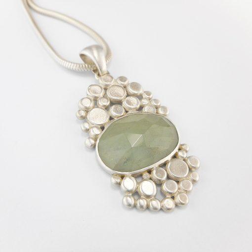 aquamarine cobblestone pendant