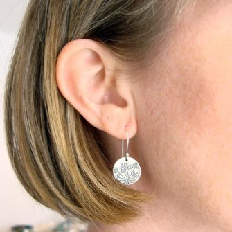 Hundkex Silver Drop Earrings