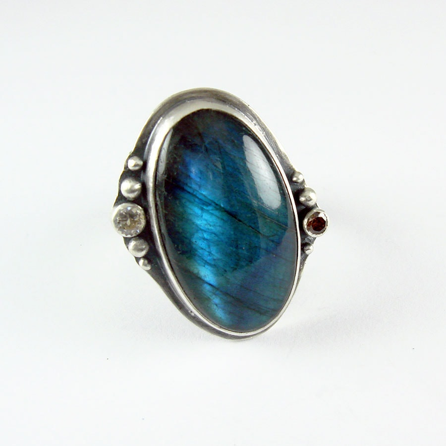 Large Stone Sterling Silver And Gemstone Rings