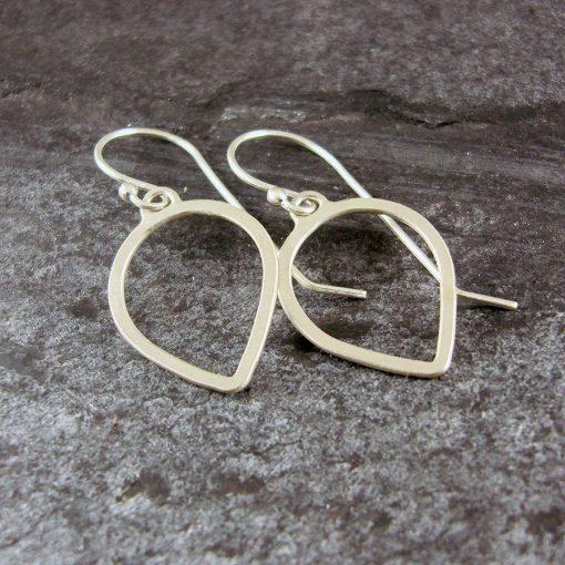 Petal Loop Silver Earrings
