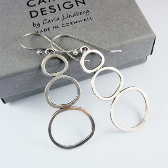 Rock Pools Silver Earrings