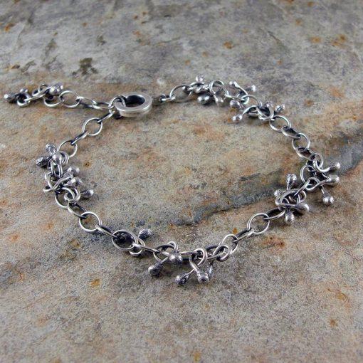 Seed Pod Silver Bracelet