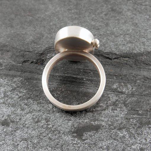 Beach Pebble & Silver Ring - Boulder II