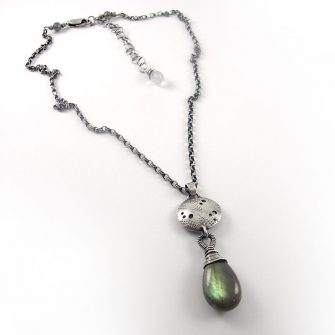 Graffiti Labradorite Drop Necklace