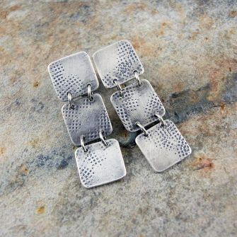 Graffiti Tab Trio Stud Earrings