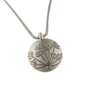 Cow Parsley drop pendant