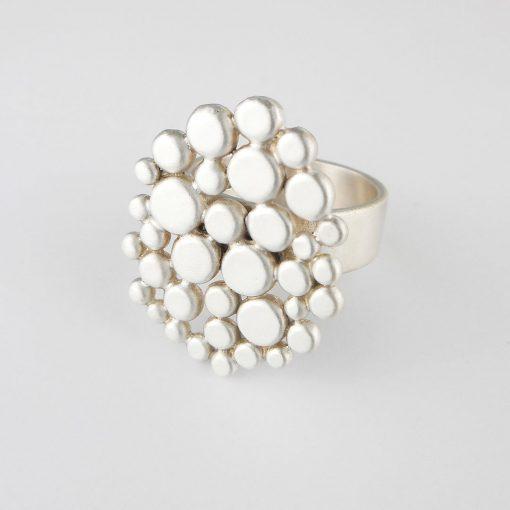 Silver Cobblestone Ring
