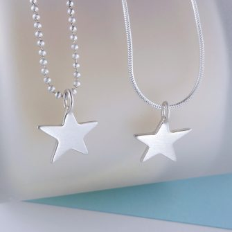 brushed star pendant