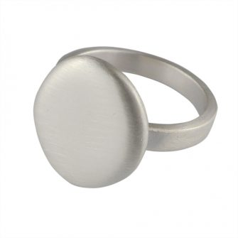 Pebble Silver Ring
