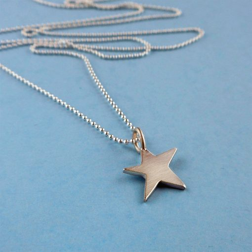 Twinkle Star Silver Pendant Necklace