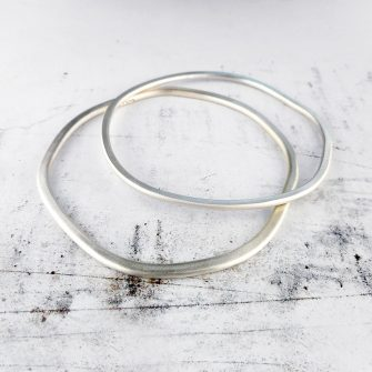 rock pool silver bangle