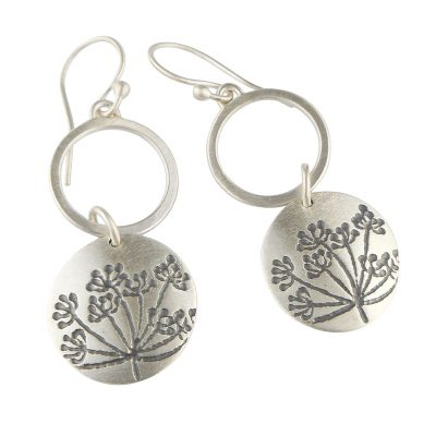 Cow Parsley loop drop earrings