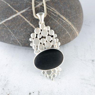 beach pebble cobblestone pendant