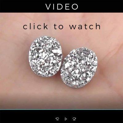 grey sparkly drusies