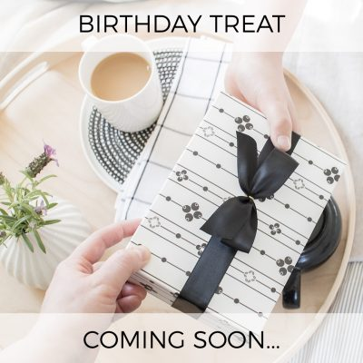 birthday treat coming soon!
