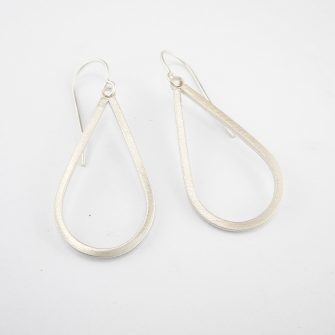 Simple silver drop earrings
