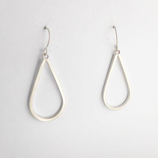 Simple silver drop earrings