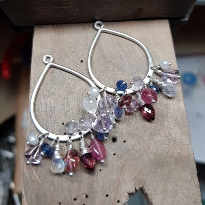 June Earring Club: Pink gem drop earrings