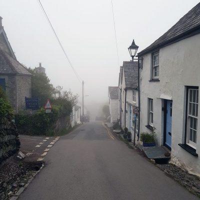Boscastle thick in sea mist