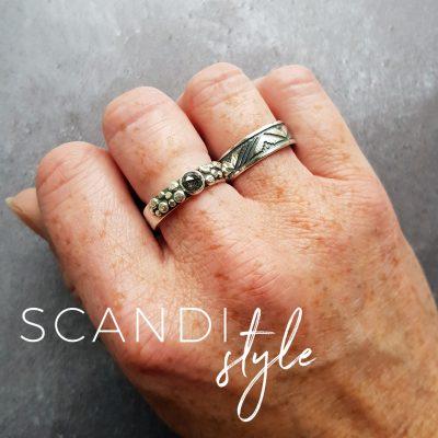 Scandi patterned ring