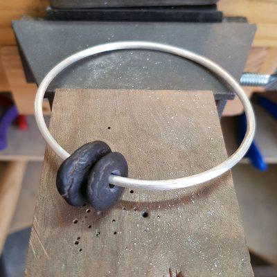 the making of a pebble bangle 5