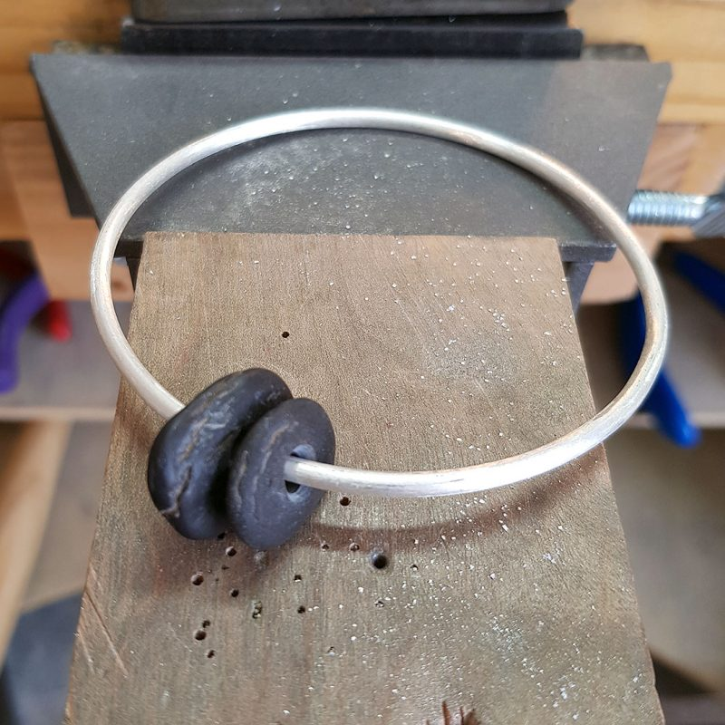 the making of a pebble bangle 5