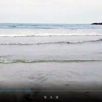 sea lapping against the beach