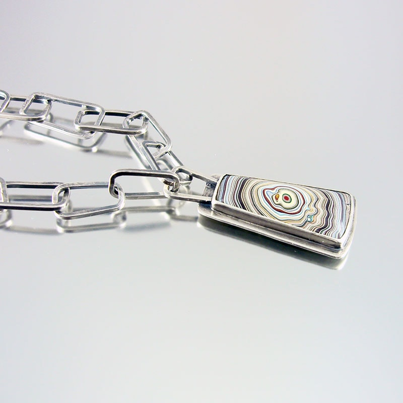award winning one of a kind necklace with Fordite