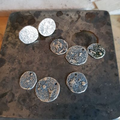fused silver components for the rugged collection in progress