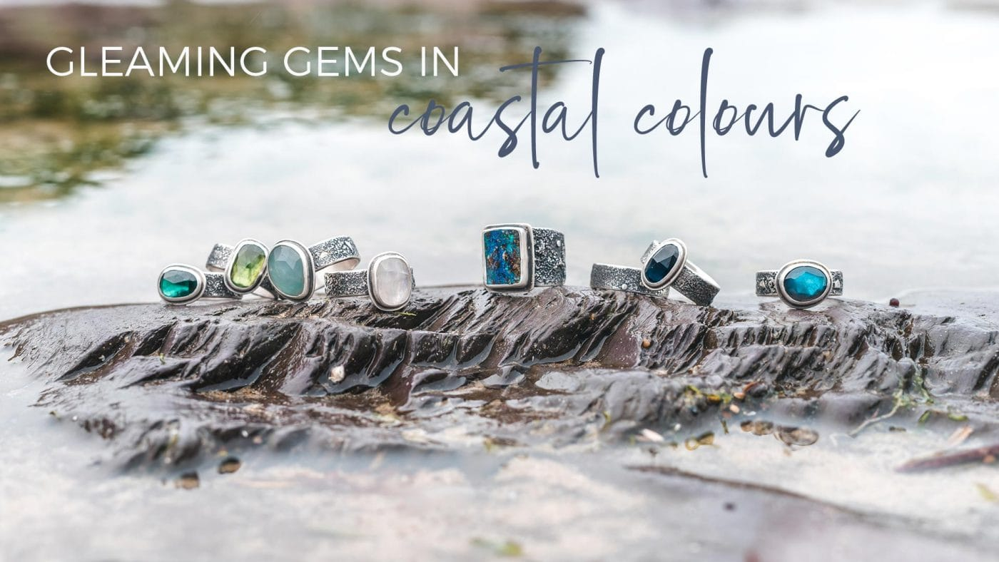 Gleaming gems in coastal colours