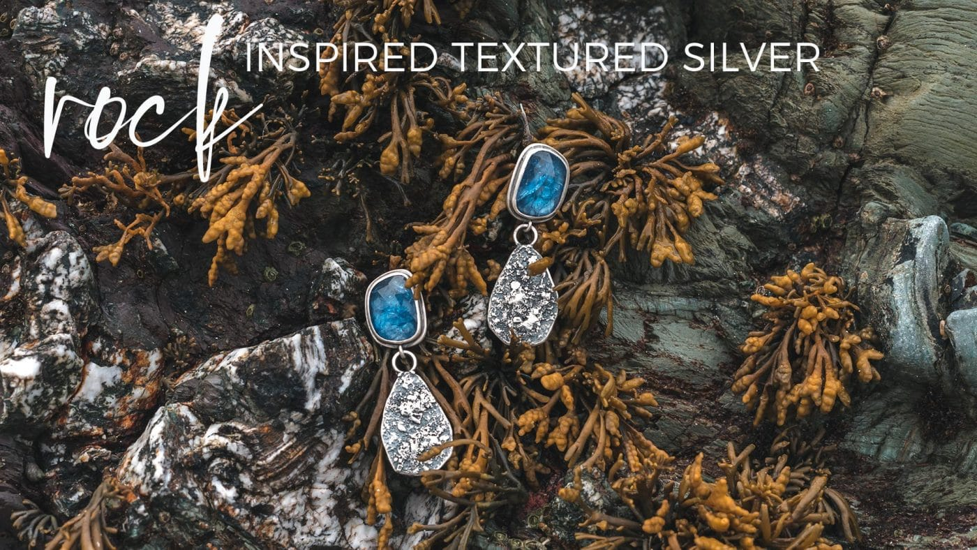 Rock inspired textured silver