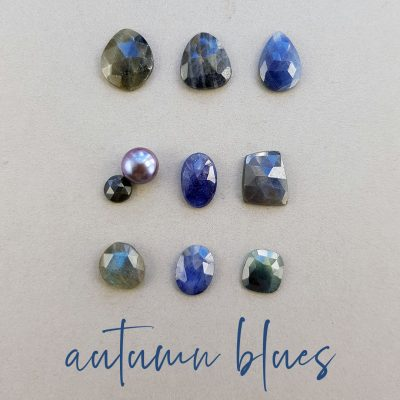 Blue stones for new jewellery