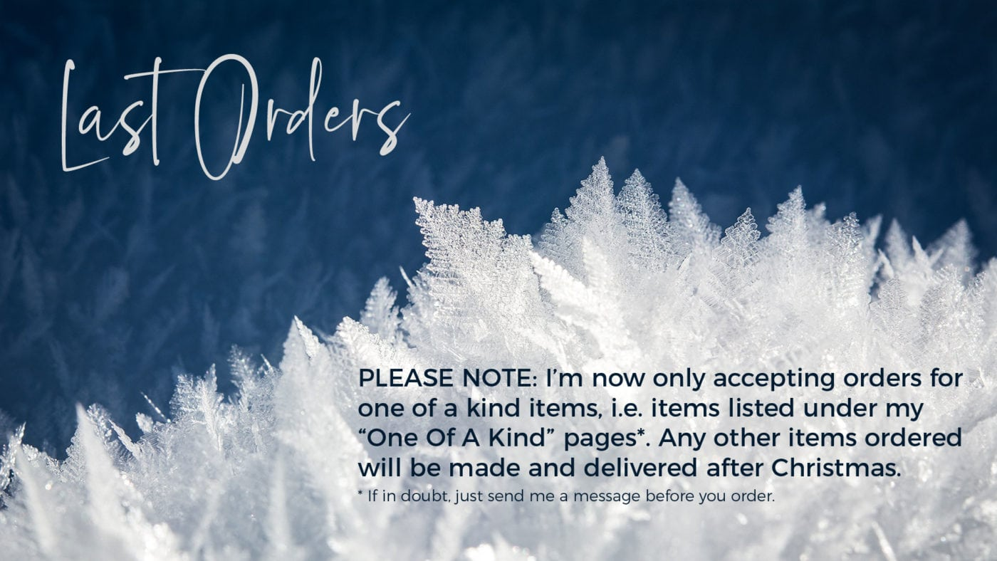 Last orders for Christmas 2018